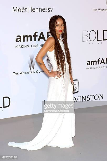 Actress Zoe Kravitz attends amfAR's 22nd Cinema Against AIDS Gala, Presented By Bold Films And Harry Winston at Hotel du Cap-Eden-Roc on May 21, 2015...