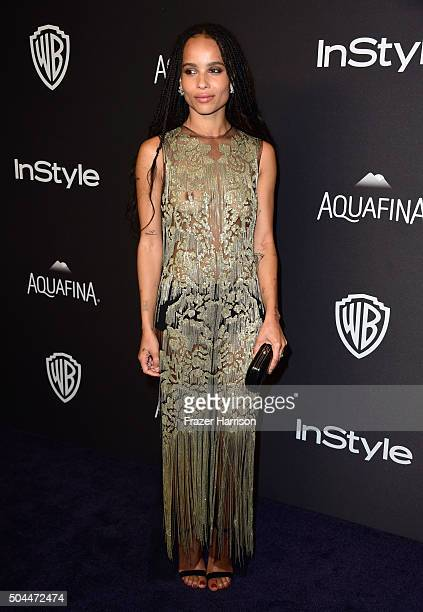 Actress Zoe Kravitz attends InStyle and Warner Bros 73rd Annual Golden Globe Awards PostParty at The Beverly Hilton Hotel on January 10 2016 in...