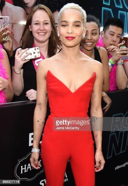 Actress Zoe Kravitz attends New York Premiere of Sony's ROUGH NIGHT presented by SVEDKA Vodka at AMC Lincoln Square Theater on June 12 2017 in New...
