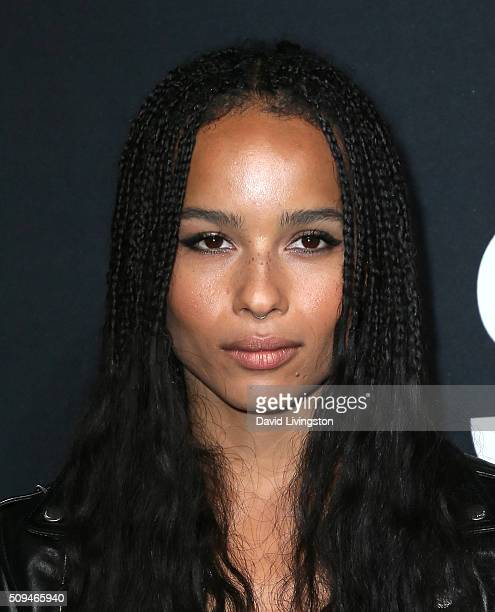 Actress Zoe Kravitz attends Saint Laurent at Hollywood Palladium on February 10 2016 in Los Angeles California