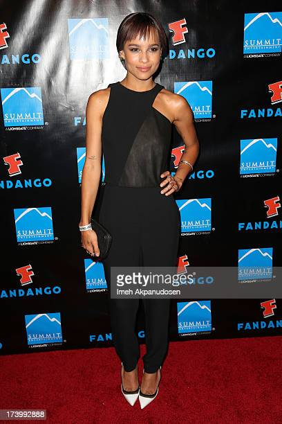 Actress Zoe Kravitz attends Summit Entertainment's ComicCon Red Carpet Press Event at Hard Rock Hotel San Diego on July 18 2013 in San Diego...