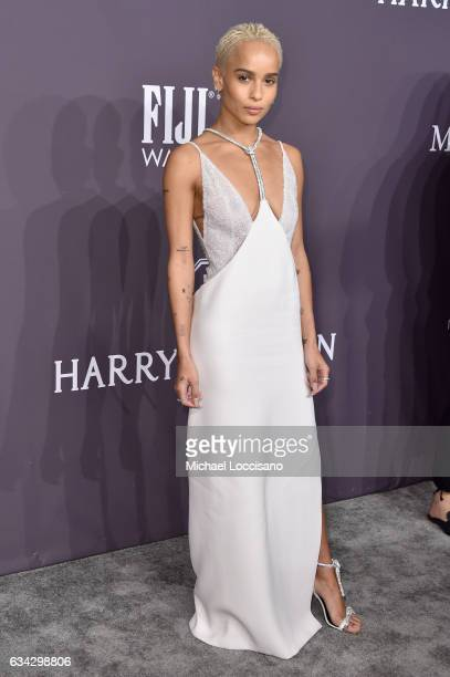 Actress Zoe Kravitz attends the 19th Annual amfAR New York Gala at Cipriani Wall Street on February 8 2017 in New York City
