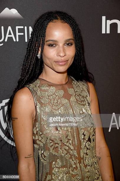 Actress Zoe Kravitz attends The 2016 InStyle And Warner Bros 73rd Annual Golden Globe Awards PostParty at The Beverly Hilton Hotel on January 10 2016...
