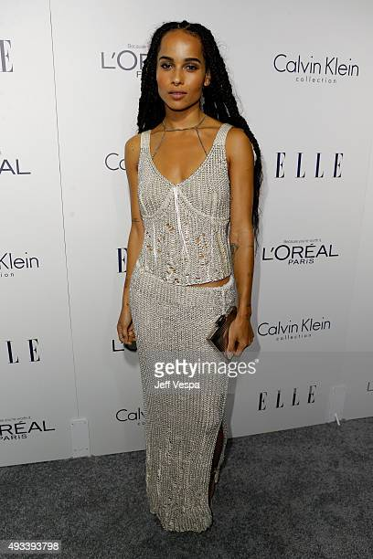 Actress Zoe Kravitz attends the 22nd Annual ELLE Women in Hollywood Awards presented by Calvin Klein Collection, L'Oréal Paris, and David Yurman at...