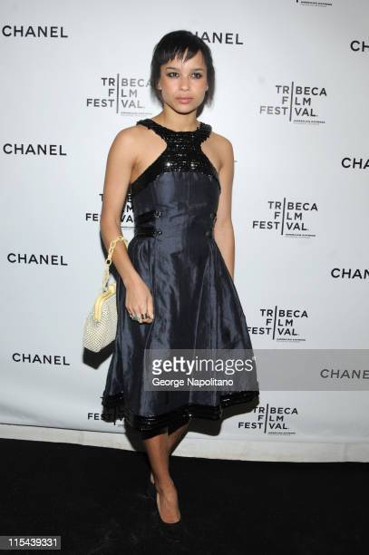 Actress Zoe Kravitz attends the 3rd Annual Chanel Dinner Party on April 28 2008 at AGO at the Greenwich Hotel in New York City