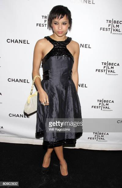 Actress Zoe Kravitz attends the Chanel Tribeca Film Festival Dinner held at Ago at the Greenwich Hotel during the 2008 Tribeca Film Festival on April...