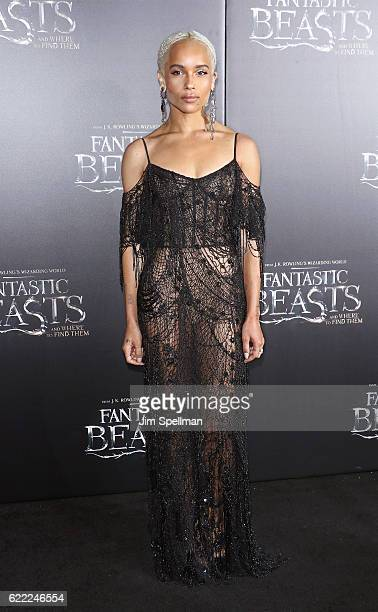 Actress Zoe Kravitz attends the 'Fantastic Beasts And Where To Find Them' world premiere at Alice Tully Hall Lincoln Center on November 10 2016 in...