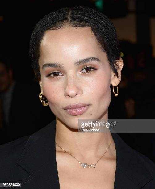 Actress Zoe Kravitz attends the Los Angeles premiere of Neon's 'Gemini' at the Vista Theatre on March 15 2018 in Los Angeles California
