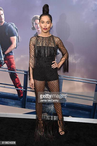 Actress Zoe Kravitz attends the New York premiere of 'Allegiant' at the AMC Lincoln Square Theater on March 14 2016 in New York City