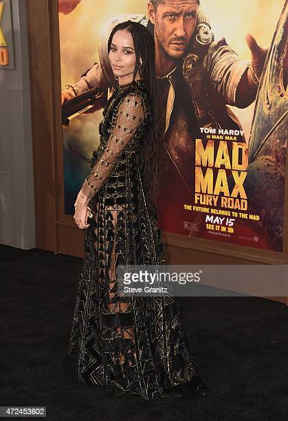 Actress Zoe Kravitz attends the premiere of Warner Bros Pictures' Mad Max Fury Road at TCL Chinese Theatre on May 7 2015 in Hollywood California