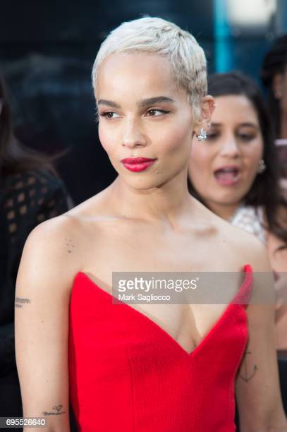 """Actress Zoe Kravitz attends the """"Rough Night"""" New York Premiere at AMC Lowes Lincoln Square on June 12, 2017 in New York City."""