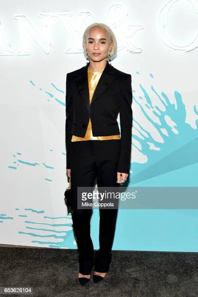 Actress Zoe Kravitz attends the Tiffany Co presents Whitney Biennial VIP Opening Night at The Whitney Museum of American Art on March 15 2017 in New...