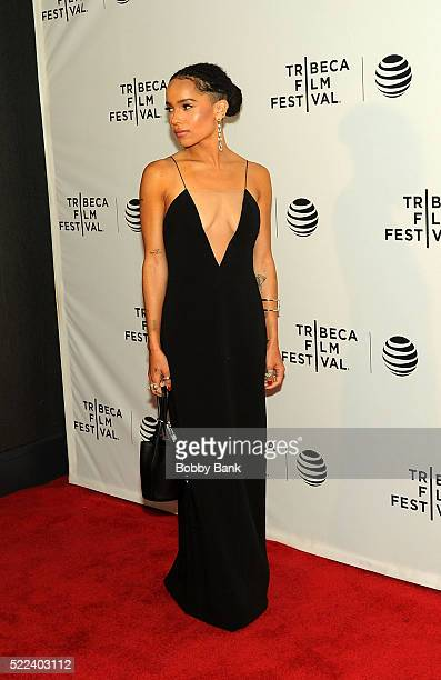 Actress Zoe Kravitz attends the Vincent N Roxxy Premiere at the 2016 Tribeca Film Festival at Chelsea Bow Tie Cinemas on April 18 2016 in New York...