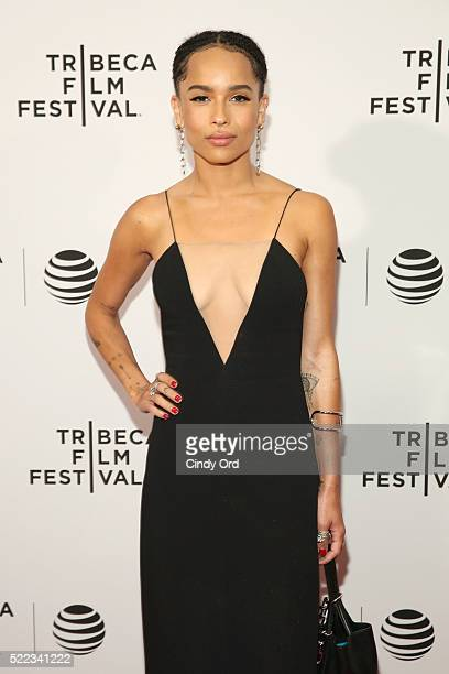 Actress Zoe Kravitz attends the Vincent N Roxxy Premiere during the 2016 Tribeca Film Festival at Chelsea Bow Tie Cinemas on April 18 2016 in New...