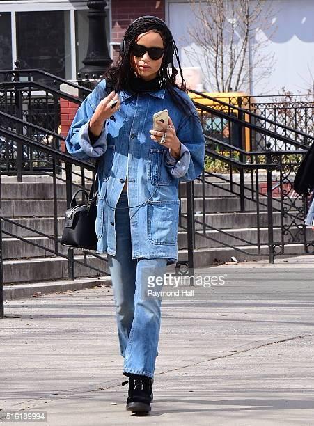 Actress Zoe Kravitz is seen walking in Soho on March 17 2016 in New York City