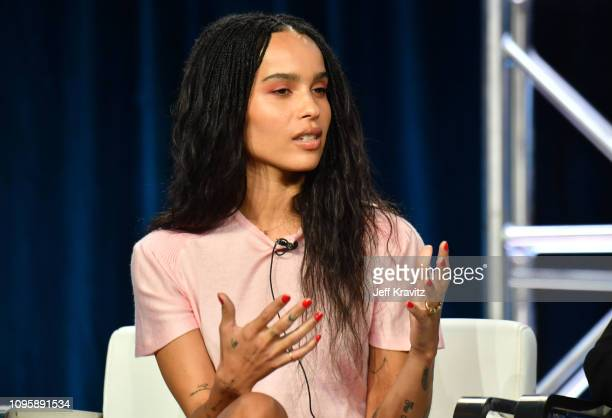 "Actress Zoe Kravitz speaks onstage during the ""Big Little Lies"" panel of the HBO portion of the 2019 Winter TCA on February 8, 2019 in Pasadena,..."
