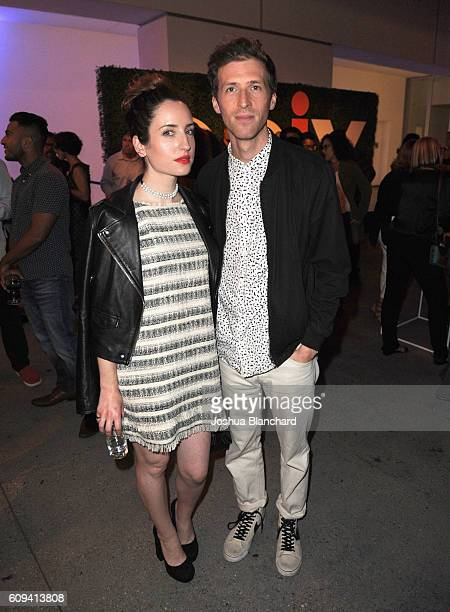 Actress Zoe Lister Jones and filmmaker Daryl Wein attend EPIX America Divided LA Premiere at Billy Wilder Theater at The Hammer Museum on September...