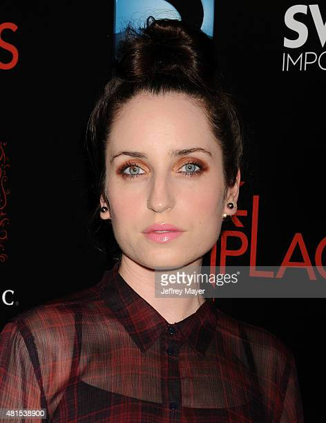Actress Zoe Lister Jones arrives at the Premiere Of DIRECTV's 'Dark Places' at Harmony Gold Theatre on July 21 2015 in Los Angeles California