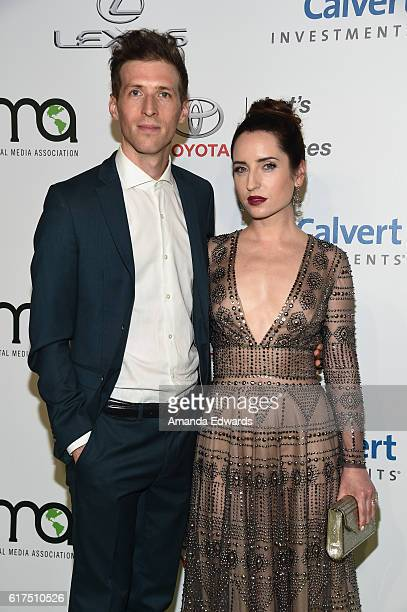 Actress Zoe ListerJones and director Daryl Wein arrive at the 26th Annual EMA Awards at Warner Bros Studios on October 22 2016 in Burbank California