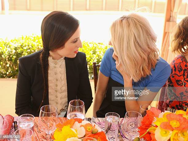 Actress Zoe ListerJones and Market Editor of Vogue Kelly Connor attend Vogue Lunch In Celebration Of The Etro Spring Collection Hosted By Sally...