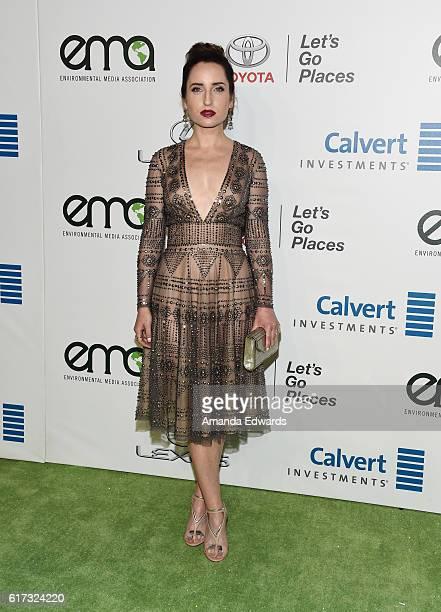 Actress Zoe ListerJones arrives at the 26th Annual EMA Awards at Warner Bros Studios on October 22 2016 in Burbank California