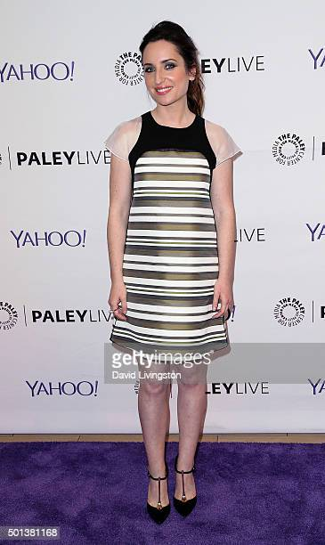 """Actress Zoe Lister-Jones attends PaleyLive LA: An Evening with """"Life in Pieces"""" at The Paley Center for Media on December 14, 2015 in Beverly Hills,..."""