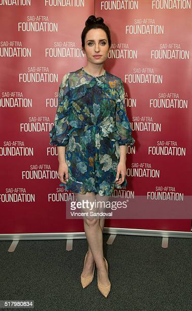 """Actress Zoe Lister-Jones attends SAG-AFTRA Foundation Conversations for """"Life In Pieces"""" at SAG-AFTRA Foundation on March 28, 2016 in Los Angeles,..."""