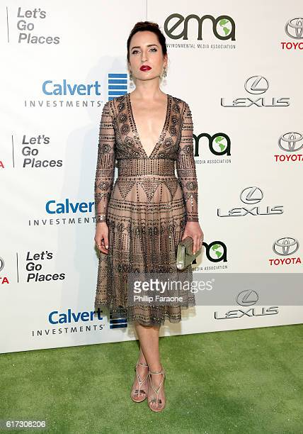 Actress Zoe ListerJones attends the Environmental Media Association 26th Annual EMA Awards Presented By Toyota Lexus And Calvert at Warner Bros...