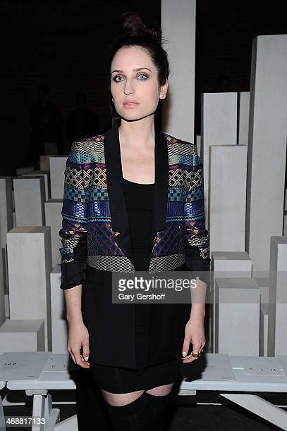 Actress Zoe Lister-Jones attends the ICB By Prabal Gurung Show during Mercedes-Benz Fashion Week Fall 2014 at Eyebeam on February 11, 2014 in New...