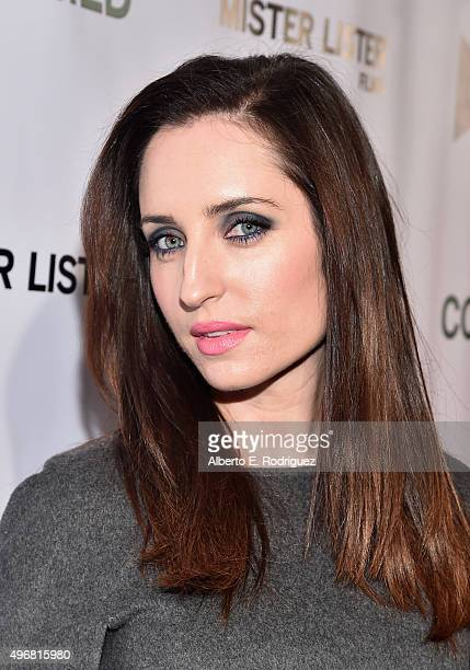 Actress Zoe ListerJones attends the Los Angeles premiere of Mister Lister Films' Consumed at Laemmle Music Hall on November 11 2015 in Beverly Hills...