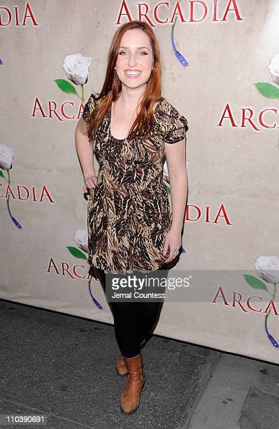 Actress Zoe ListerJones attends the opening night of Arcadia on Broadway at the Ethel Barrymore Theatre on March 17 2011 in New York City