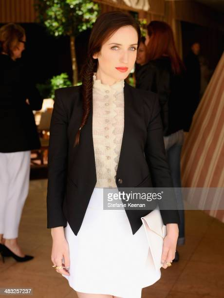 Actress Zoe ListerJones attends Vogue Lunch In Celebration Of The Etro Spring Collection Hosted By Sally Singer at Sunset Tower Hotel on April 3 2014...