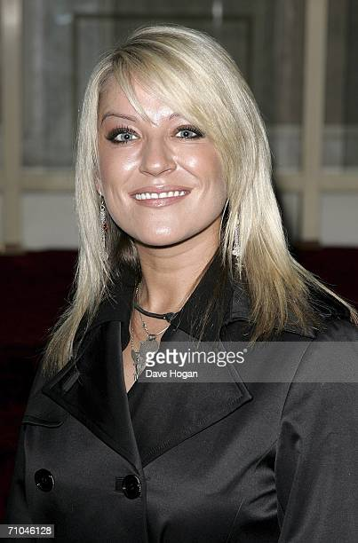 Actress Zoe Lucker arrives at the 51st Ivor Novello Awards at the Grosvenor House Hotel on May 25 2006 in London England