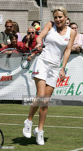 Actress Zoe Lucker at the Ariel Celebrity Tennis Match held in Trafalgar Square on June 13 2005 in London England