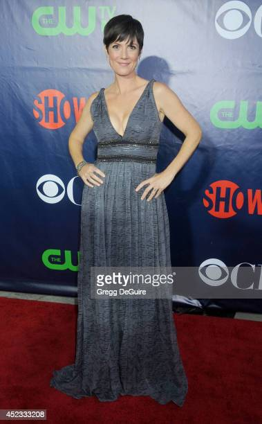 Actress Zoe McLellan arrives at the 2014 Television Critics Association Summer Press Tour CBS CW And Showtime Party at Pacific Design Center on July...