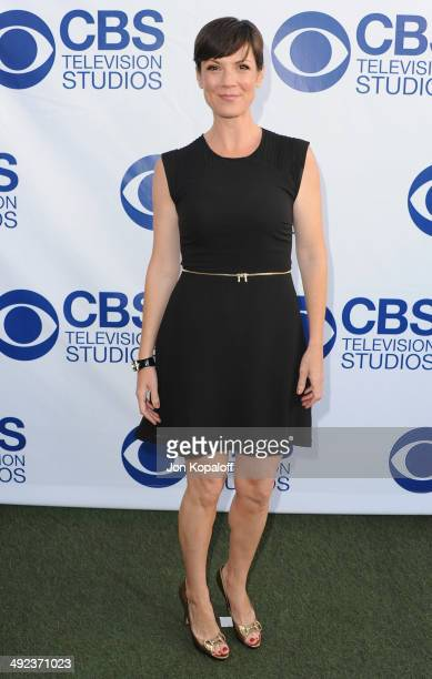Actress Zoe McLellan arrives at the CBS Summer Soiree at The London West Hollywood on May 19 2014 in West Hollywood California