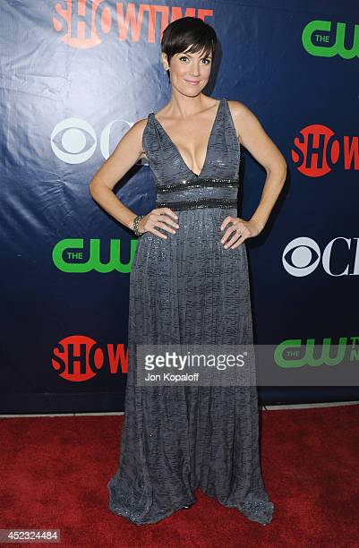 Actress Zoe McLellan arrives at the CBS The CW Showtime CBS Television Distribution 2014 Television Critics Association Summer Press Tour at Pacific...