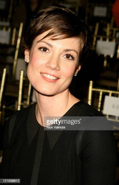Actress Zoe McLellan attends the Rag Bone Fall 2008 runway show during MercedesBenz Fashion week on February 1 2008 in New York City