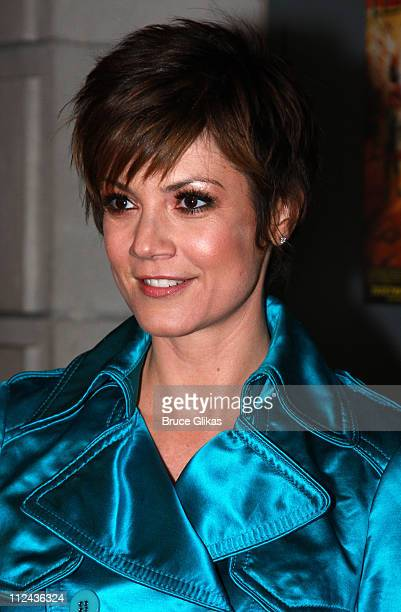 Actress Zoe McLellan poses at the arrivals for the new Broadway musical In The Heights at the Richard Rodgers Theatre on March 9 2008 in New York City