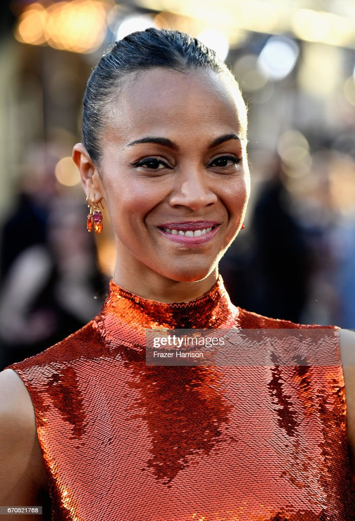 Actress Zoe Saldana arrives at the premiere of Disney and Marvel's 'Guardians Of The Galaxy Vol. 2' at Dolby Theatre on April 19, 2017 in Hollywood, California.