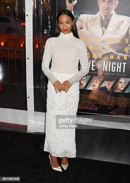 Actress Zoe Saldana arrives at the Premiere Of Warner Bros Pictures' 'Live By Night' at TCL Chinese Theatre on January 9 2017 in Hollywood California