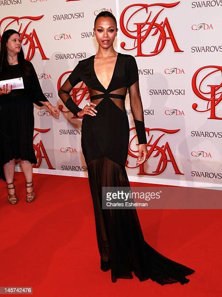Actress Zoe Saldana attends 2012 CFDA Fashion Awards at Alice Tully Hall on June 4, 2012 in New York City.