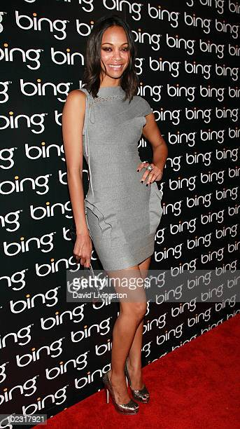 Actress Zoe Saldana attends Bing's Celebration of Creative Minds at BOA Steakhouse on June 22, 2010 in West Hollywood, California.