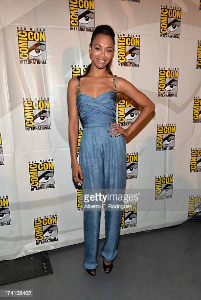 Actress Zoe Saldana attends Marvel's Guardians Of The Galaxy panel during ComicCon International 2013 at San Diego Convention Center on July 20 2013...