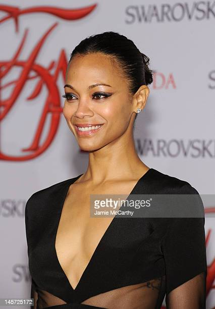 Actress Zoe Saldana attends the 2012 CFDA Fashion Awards at Alice Tully Hall on June 4, 2012 in New York City.
