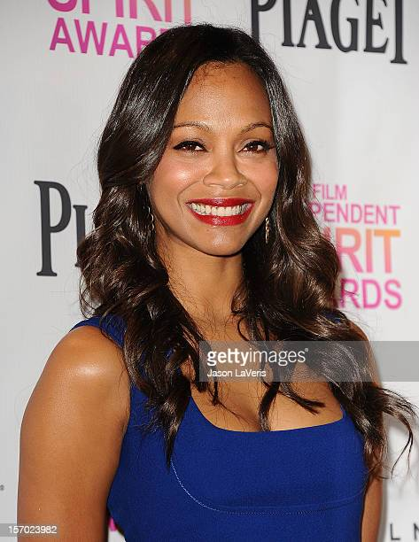 Actress Zoe Saldana attends the 2013 Film Independent Spirit Awards nominations at W Hollywood on November 27, 2012 in Hollywood, California.