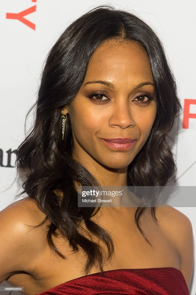 Actress Zoe Saldana attends the 2014 Whitney Art Party at Highline Stages on May 8, 2014 in New York City.