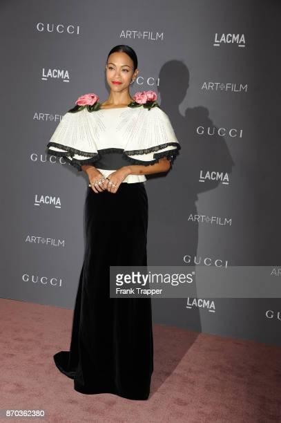Actress Zoe Saldana attends the 2017 LACMA Art Fim Gala in Los Angeles California