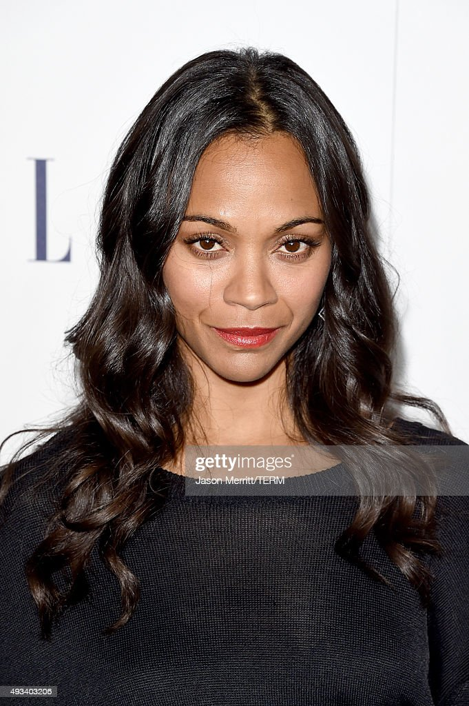 Actress Zoe Saldana attends the 22nd Annual ELLE Women in Hollywood Awards at Four Seasons Hotel Los Angeles at Beverly Hills on October 19, 2015 in Los Angeles, California.