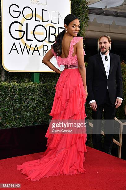 Actress Zoe Saldana attends the 74th Annual Golden Globe Awards at The Beverly Hilton Hotel on January 8 2017 in Beverly Hills California